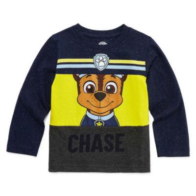 Paw Patrol Long Sleeve Crew Neck T-Shirt-Toddler Boys
