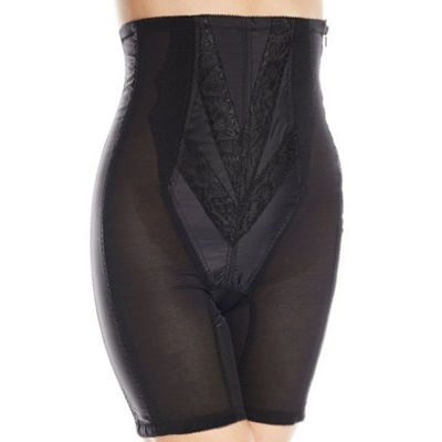 Rago Plus High Waist Zippered Satin Extra Firm Control Thigh Slimmers - 6210p