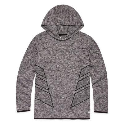 Xersion Boys Hooded Neck Long Sleeve Dri-Fit T-Shirt Preschool / Big Kid Husky