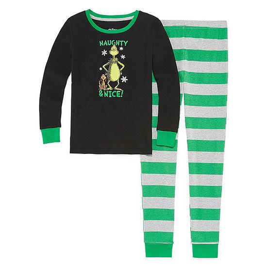 The Grinch 2 Piece Pajama Set-Boy's