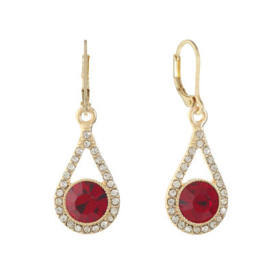 Monet Jewelry Red Drop Earrings