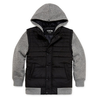 Zoo York - Boys Hooded Midweight Puffer Jacket Husky-Big Kid