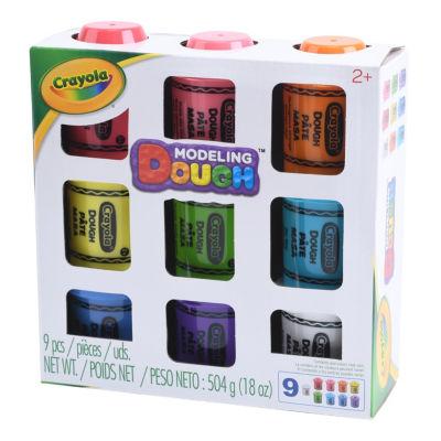 Crayola Nine-Pack Crayon-Shaped Modeling Dough Set