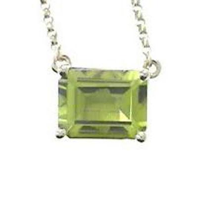 Womens Diamond Accent Genuine Green Peridot 14K Gold Pendant Necklace