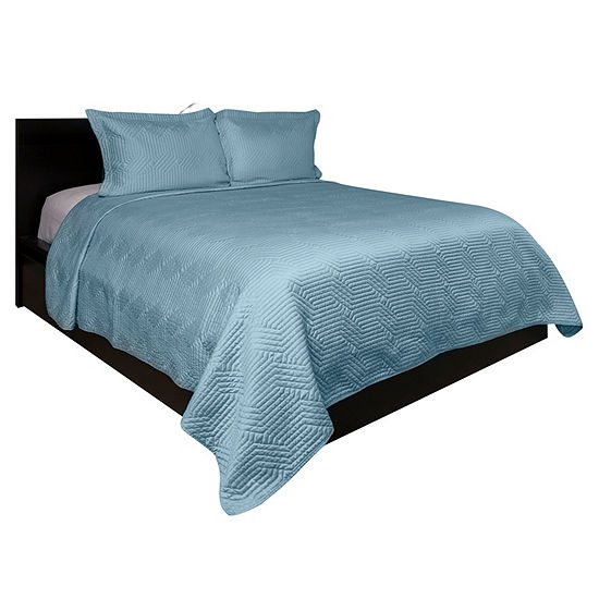 Lionel Richie Light Blue 3-pc. Coverlet Set