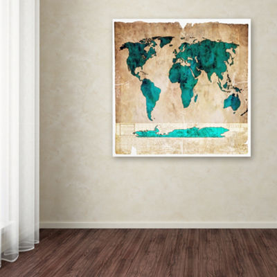Trademark Fine Art LightBoxJournal Sea Map I Giclee Canvas Art