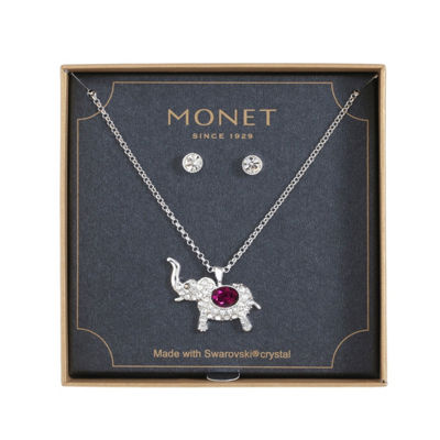 Monet Jewelry Purple Silver Tone 2-pc. Jewelry Set