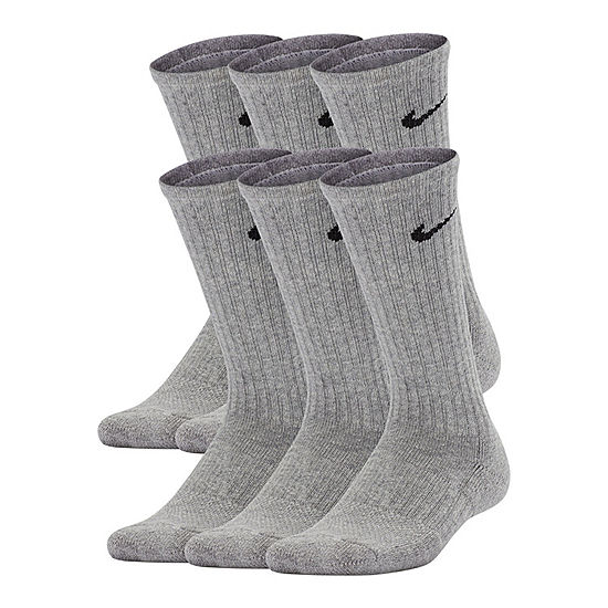 Nike Performance Cushioned 6 Pack Crew Sock Boys JCPenney a800a3dacb06