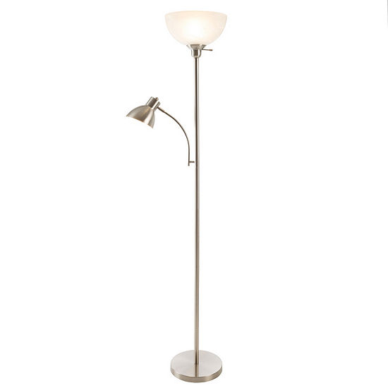 Lavish Home Torchiere Lamp with Reading Light