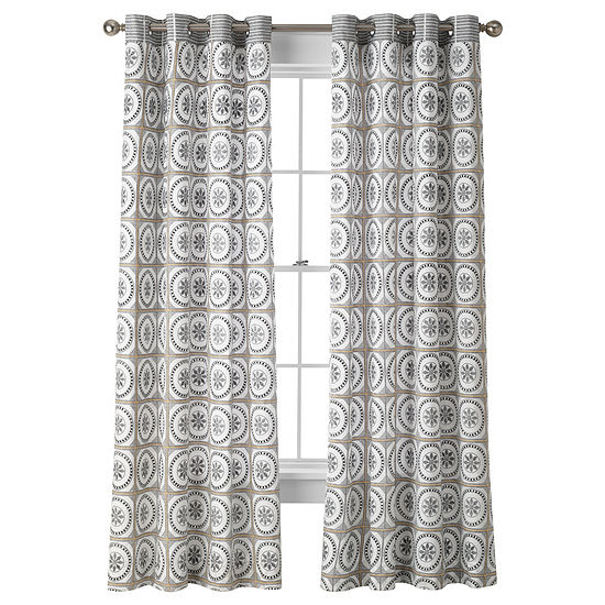 JCPenney Home Cassie Grommet-Top Curtain Panel