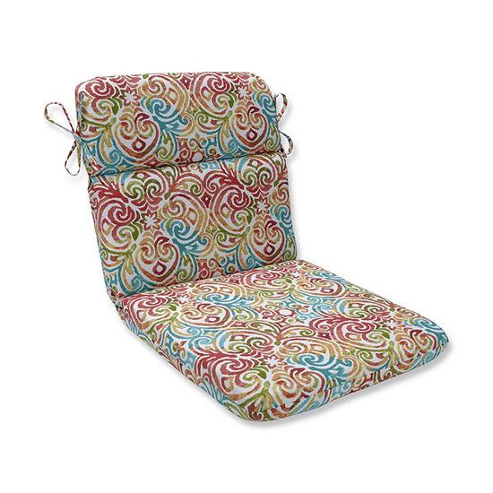 Pillow Perfect Corinthian Dapple Rounded Corners Patio Chair Cushion