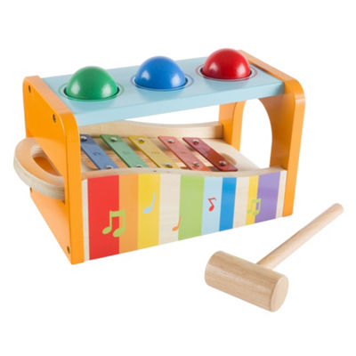 Hey! Play! Wooden Pound and Play Bench Toy