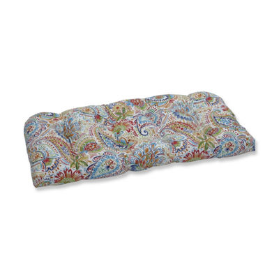 Pillow Perfect Gilford Festival Wicker Patio Loveseat Cushion