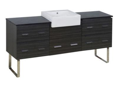 69.25-in. W 18-in. D Modern Plywood-Melamine Vanity Base Set Only In Dawn Grey