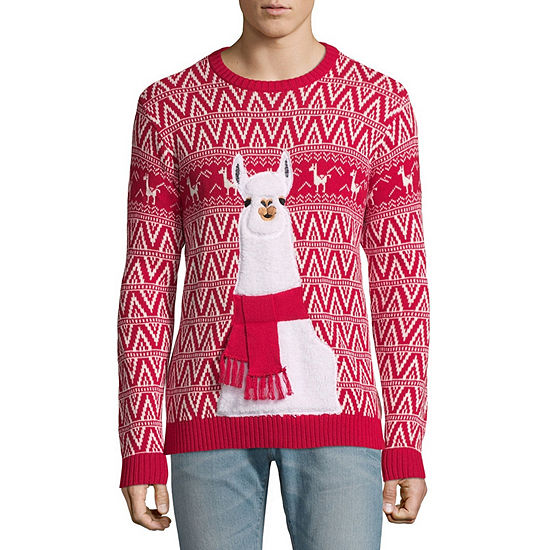 2c045b2bcd7 Ugly Christmas Llama Sweater