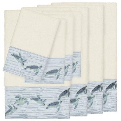 Linum Home Textiles 100% Turkish Cotton Mia 8PC Embellished Towel Set