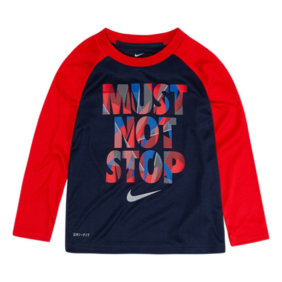 Nike Long Sleeve Round Neck T-Shirt-Toddler Boys