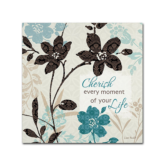 Trademark Fine Art Lisa Audit Botanical Touch Quote I Giclee Canvas Art