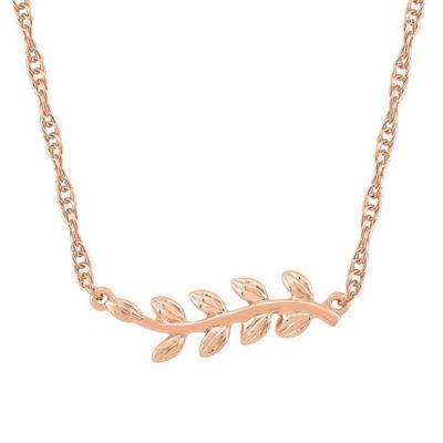 Womens 10K Rose Gold Pendant Necklace