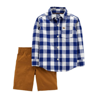 Carter's 2-pc. Plaid Pant Set - Toddler Boys