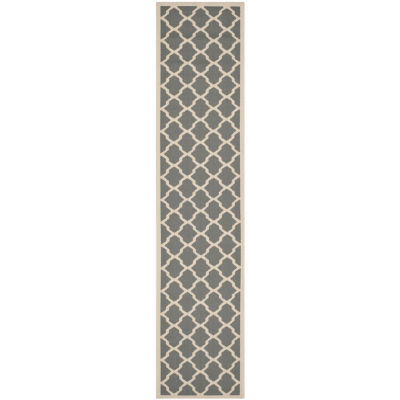 Safavieh Courtyard Collection Bailey Geometric Indoor/Outdoor Runner Rug