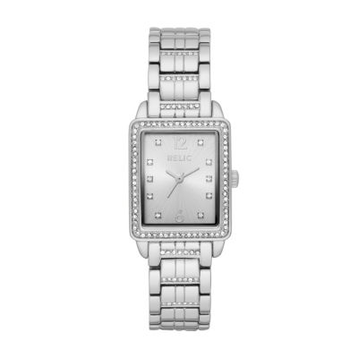 Relic Womens Silver Tone Bracelet Watch-Zr34511
