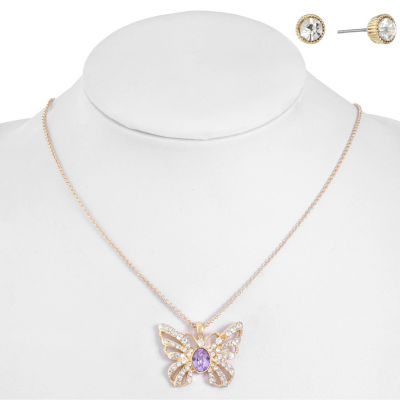 Monet Jewelry Purple Gold Tone 2-pc. Jewelry Set