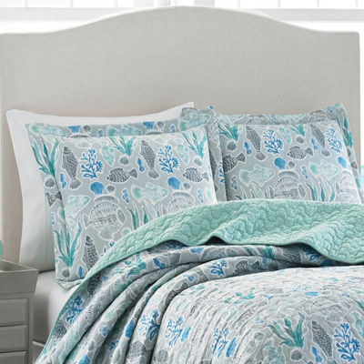 Laura Ashley Fish Friends At Bay Quilt Set