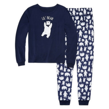 Sleepy Nites Polar Bear 2 Piece Pajama Set - Boy's