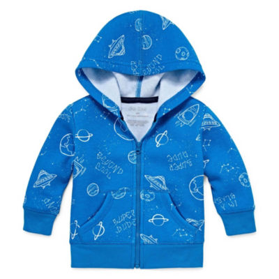 Okie Dokie Outerspace Fleece Zip Up Hoodie - Baby Boy NB-24M