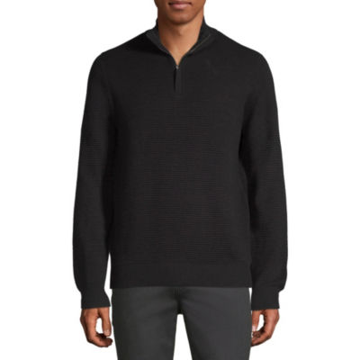 Axist Long Sleeve Quarter-Zip Ottoman Sweater