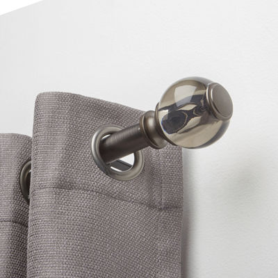 Liz Claiborne Smoked Ball 1 IN Curtain Rod