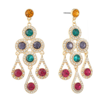 Monet Jewelry Multi Color Chandelier Earrings