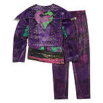 Disney Collection Descendants Mal 4-Pc. Jacket Top Pant & Single Glove Costume Set - Girls