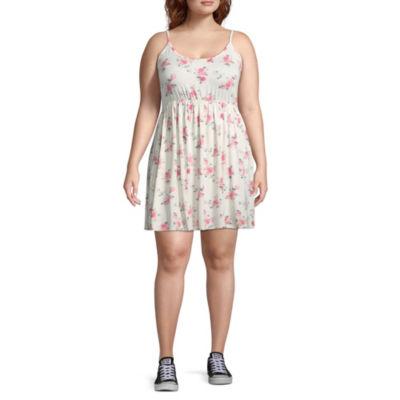 Arizona Sleeveless Swing Dresses-Juniors Plus