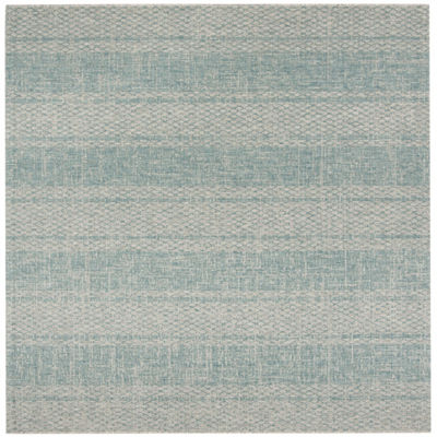 Safavieh Courtyard Collection Elena Geometric Indoor/Outdoor Square Area Rug