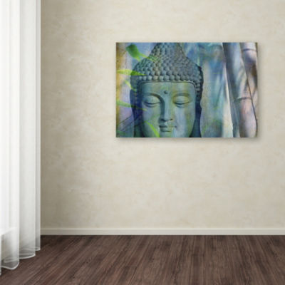 Trademark Fine Art Cora Niele Buddha with Bamboo Giclee Canvas Art