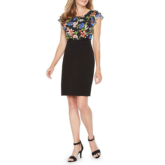 Alyx Short Sleeve Midi Sheath Dress