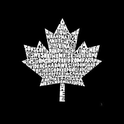 Los Angeles Pop Art Women's Raglan Word Art T-shirt - CANADIAN NATIONAL ANTHEM
