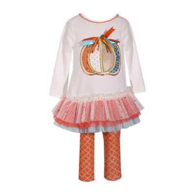 Bonnie Jean 2-pc. Pumpkin Tutu Legging Set- Baby Girls