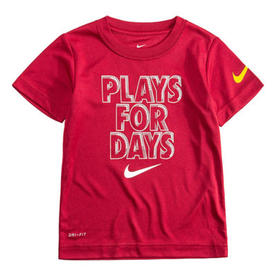 Nike Short Sleeve Round Neck T-Shirt-Toddler Boys