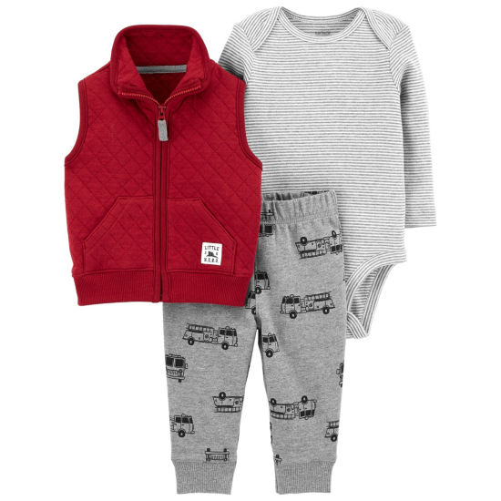 Carter's 3pc Vest Set-Baby Boys