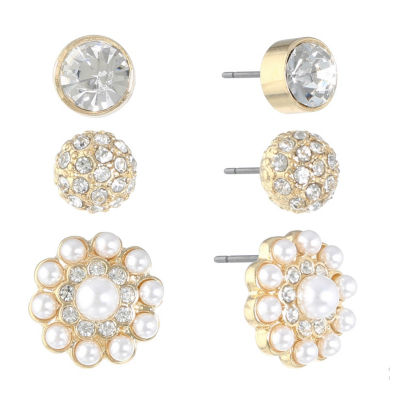 Monet Jewelry 3 Pair Earring Sets