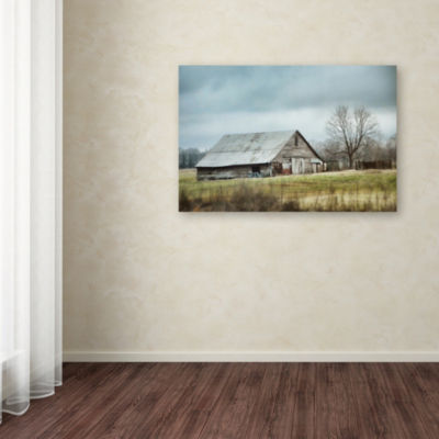 Trademark Fine Art Jai Johnson An Old Gray Barn Giclee Canvas Art