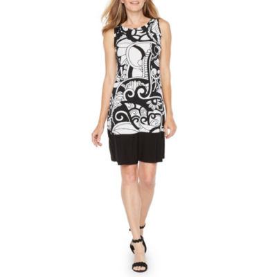 Ronni Nicole Sleeveless Paisley A-Line Dress