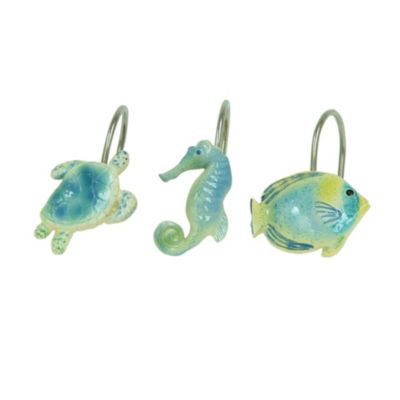 Bacova Guild Sea Life Serenade Shower Curtain Hooks