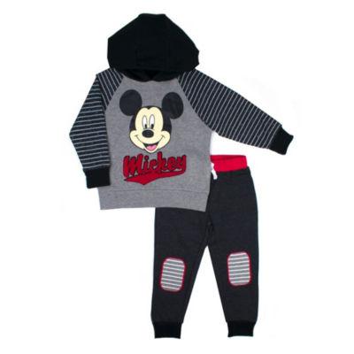 Disney Mickey Mouse Fleece Pant Set-Toddler Boys