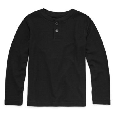 Arizona Boys Husky Knit Pajama Top Long Sleeve