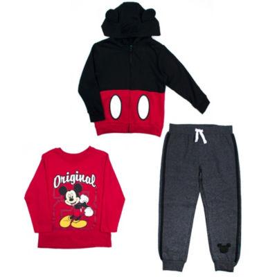 Disney Mickey Mouse 3-pc. Pant Set-Toddler Boys