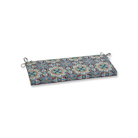 Pillow Perfect Lagoa Tile Flamingo Patio Bench Cushion